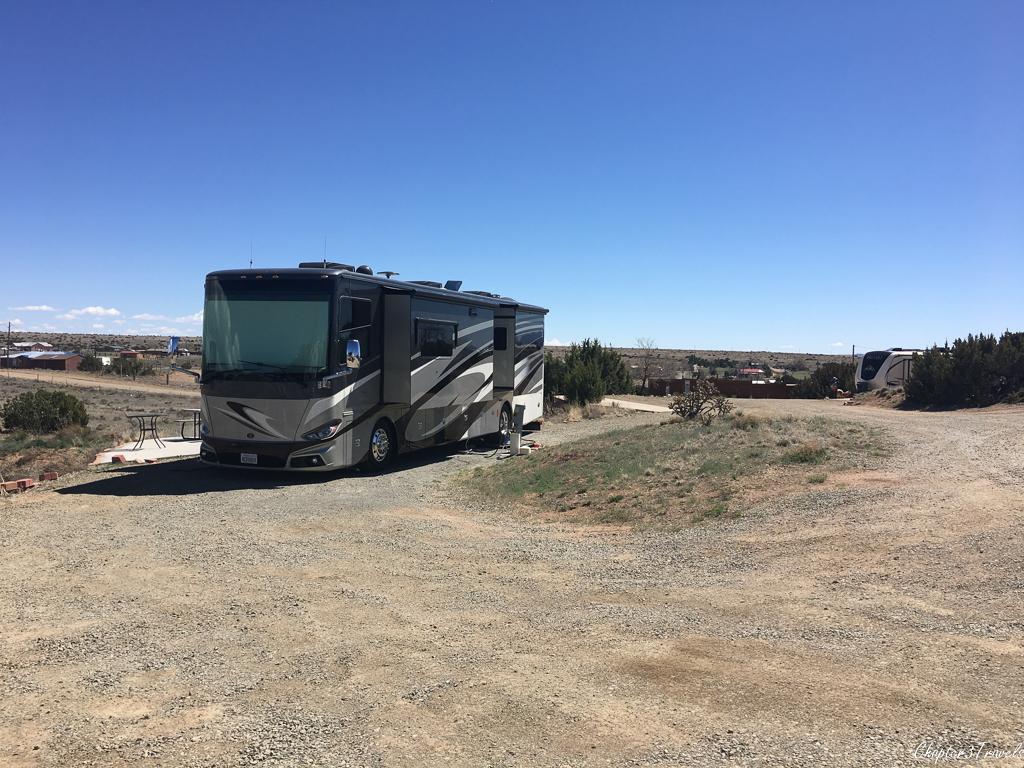Campsite at Santa Fe Skies RV Park