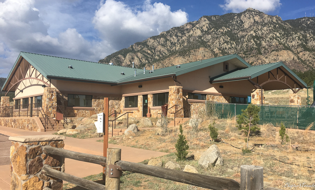 The Camper Services building at Cheyenne Mountain State Park