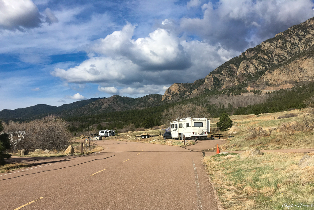 Campsites at Cheyenne Mountain State Park in Colorado Springs