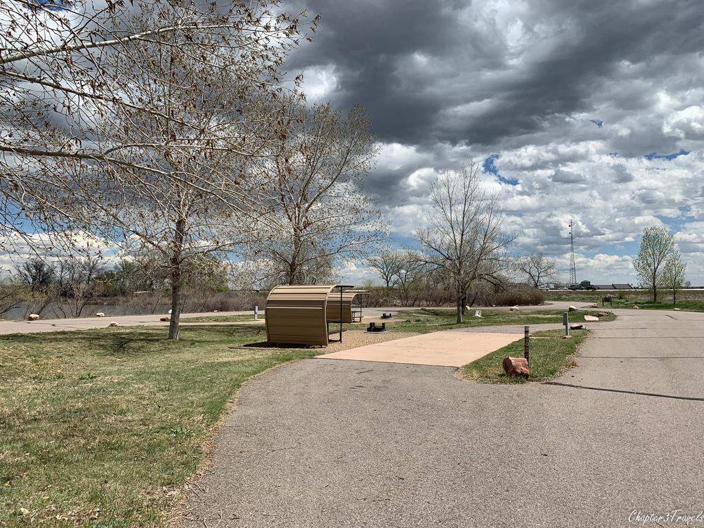 Campsites at St. Vrain State Park in Longmont, Colorado