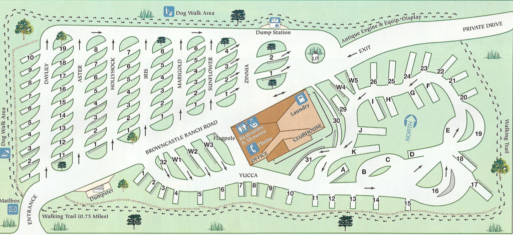 Map of Santa Fe Skies RV park