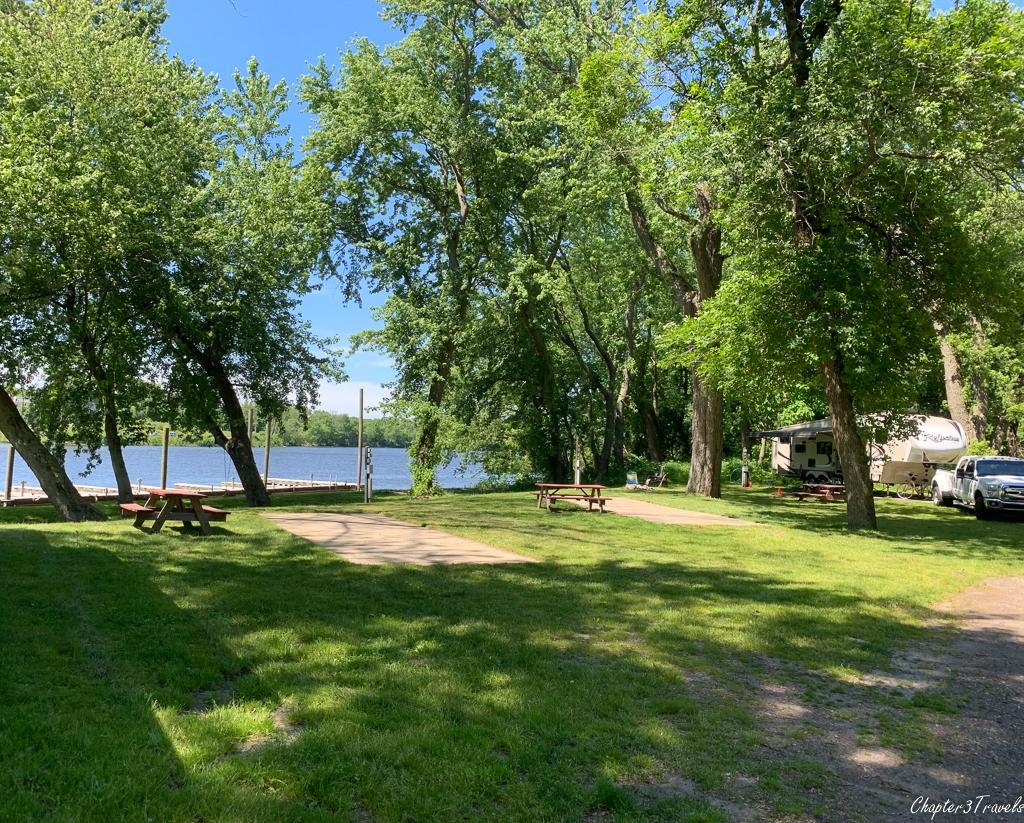 Portland Riverside Campground campsites