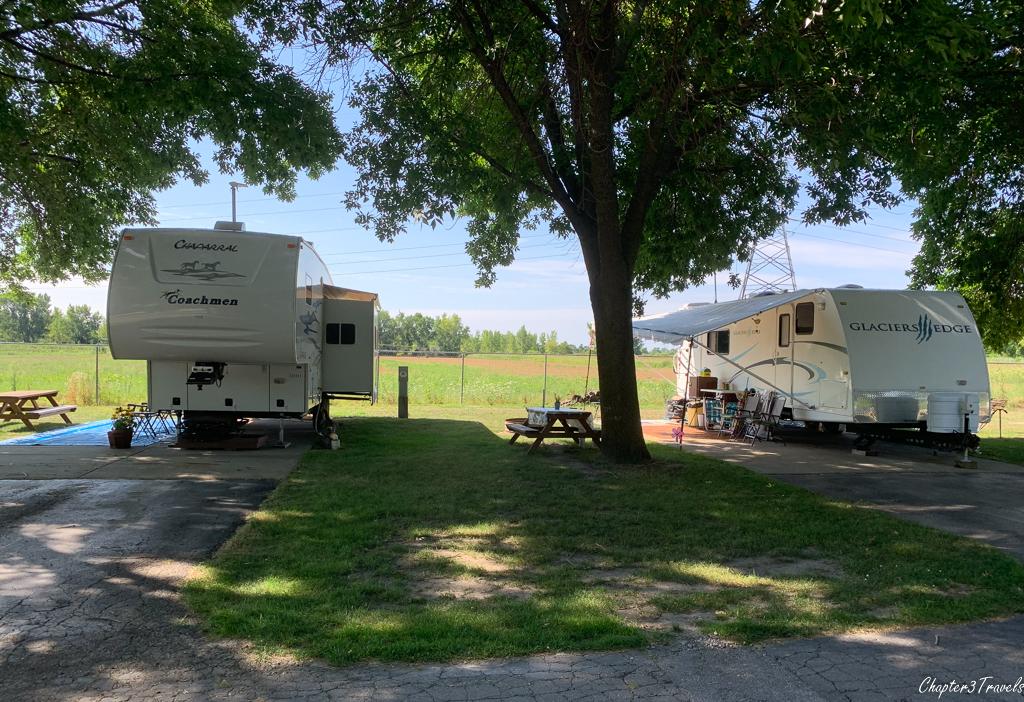 Finn Road Campground in Essexville, Michigan