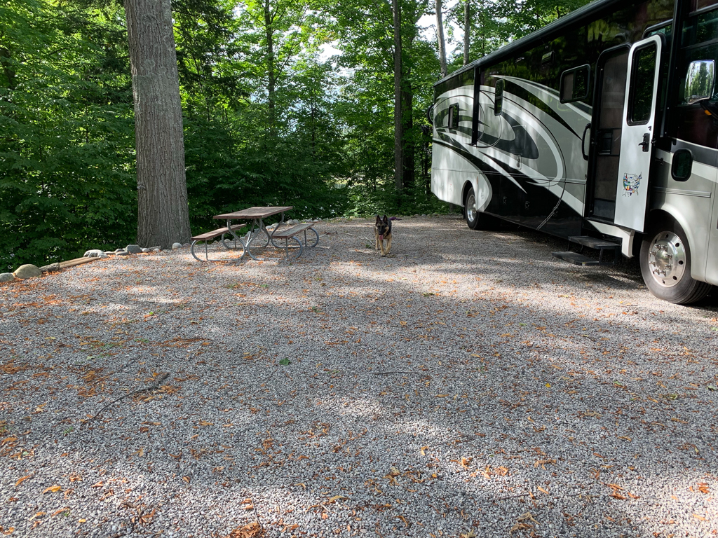 Site 18 at Holiday Park Campground in Traverse City, Michigan
