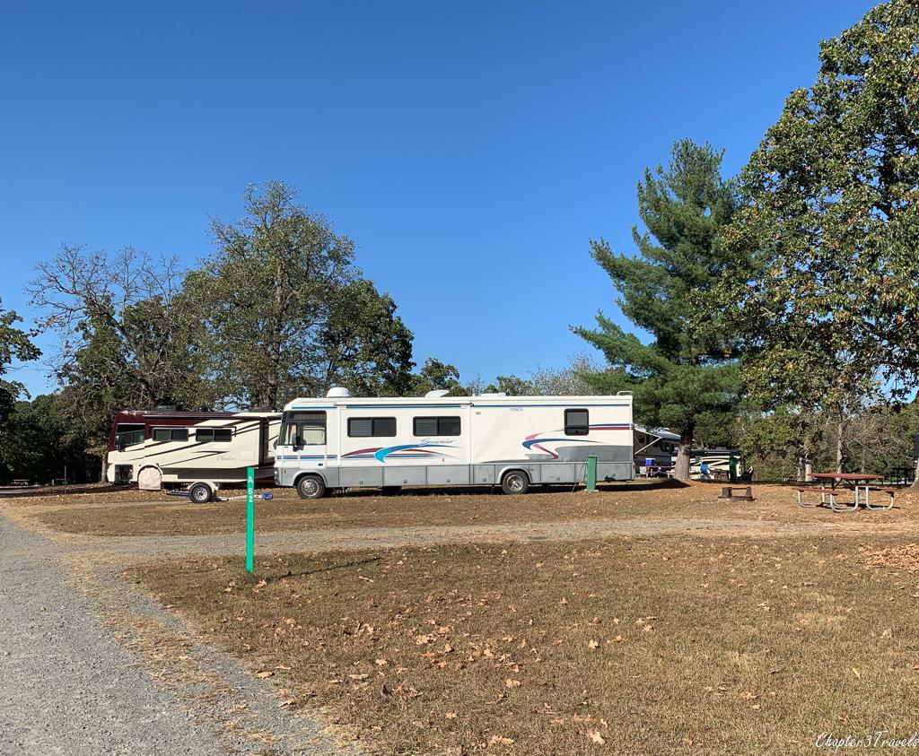 Lake Fairfax Park campground in Reston, Virginia