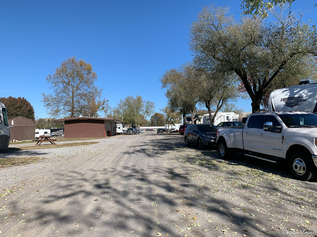 Campsites at Two Rivers RV Park in Nashville