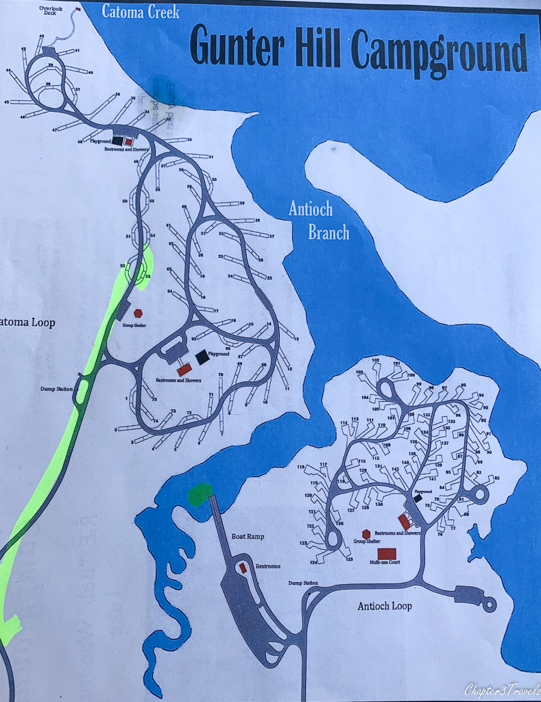 Gunter Hill Campground map