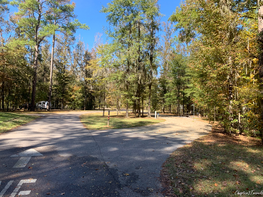 Campsites at Gunter Hill State Park in Montgomery, Alabama