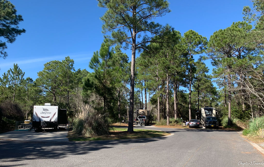 Campsites at Topsail Hill Preserve State Park