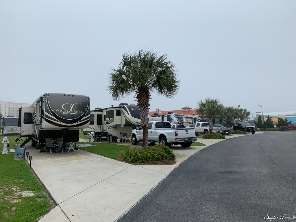 Campsites at Pensacola Beach RV Resort